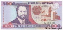 5000 Meticais MOZAMBIQUE  1991 P.136