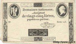 25 Livres FRANCE  1792 Laf.162 TTB+