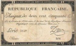 250 Livres FRANCE  1793 Laf.170 TTB