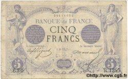 5 Francs NOIR FRANCE  1872 F.01.11 pr.TB