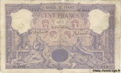 100 Francs BLEU ET ROSE FRANCE  1907 F.21.21 pr.B