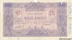1000 Francs BLEU ET ROSE FRANCE  1899 F.36.12 B+ à TB