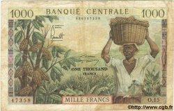 1000 Francs CAMEROUN  1962 P.12 B+