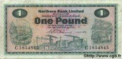 1 Pound IRLANDE DU NORD  1970 P.187a TB