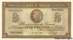 5 Pounds IRLANDE DU NORD  1956 P.242 SPL