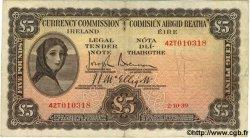 5 Pounds IRLANDE  1939 P.003B