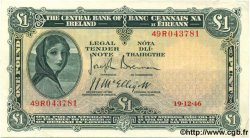 1 Pound IRLANDE  1946 P.057b SUP