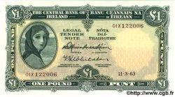 1 Pound IRLANDE  1963 P.064a NEUF