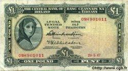 1 Pound IRLANDE  1967 P.064a pr.TB