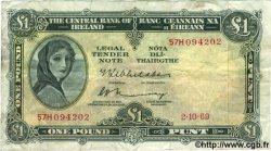 1 Pound IRLANDE  1969 P.064b TB+