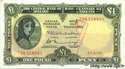 1 Pound IRLANDE  1975 P.064c SPL