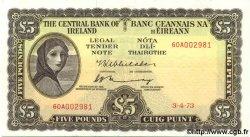 5 Pounds IRLANDE  1973 P.065c
