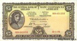 5 Pounds IRLANDE  1975 P.065c TTB