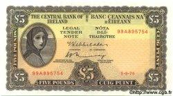 5 Pounds IRLANDE  1975 P.065c SPL