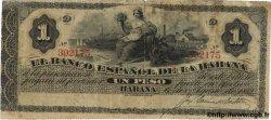 1 Peso CUBA  1883 P.027e TB