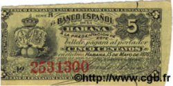 5 Centavos CUBA  1876 P.029b