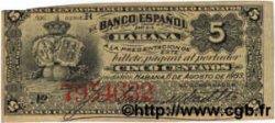 5 Centavos CUBA  1883 P.029d SUP