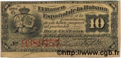 10 Centavos CUBA  1883 P.030d TTB+