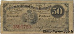 50 Centavos CUBA  1872 P.032a TB