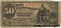 50 Centavos CUBA  1889 P.033b pr.TB