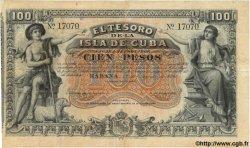 100 Pesos CUBA  1891 P.043 TTB