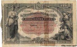 200 Pesos CUBA  1891 P.044 TB