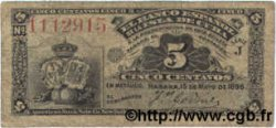 5 Centavos CUBA  1896 P.045a TB