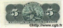 5 Centavos CUBA  1896 P.045a SPL