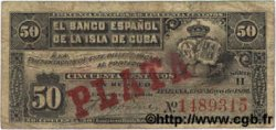 50 Centavos CUBA  1896 P.046a SUP