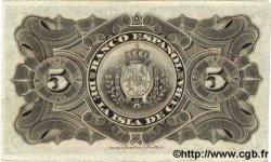 5 Pesos CUBA  1896 P.048a TTB+
