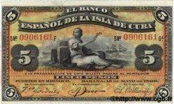5 Pesos CUBA  1896 P.048b