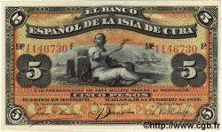 5 Pesos CUBA  1896 P.048a SPL