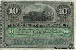 10 Pesos CUBA  1896 P.049a TTB