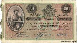 50 Pesos CUBA  1896 P.050a TTB