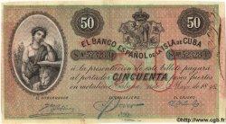 50 Pesos CUBA  1896 P.050b SUP