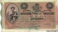 50 Pesos CUBA  1897 P.050b SUP
