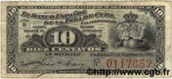 10 Centavos CUBA  1897 P.052 TB