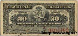 20 Centavos CUBA  1897 P.053a TTB