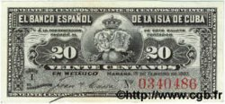 20 Centavos CUBA  1897 P.053 SUP