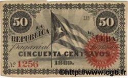 50 Centavos CUBA  1869 P.054 TTB+