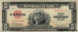 5 Pesos CUBA  1934 P.070a TB+