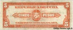 5 Pesos CUBA  1936 P.070b TB+