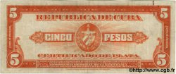 5 Pesos CUBA  1938 P.070d TTB