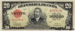 20 Pesos CUBA  1945 P.072f TTB