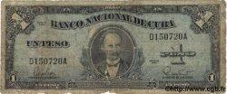 1 Peso CUBA  1960 P.077b B