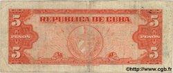 5 Pesos CUBA  1949 P.078a TB+