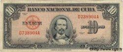 10 Pesos CUBA  1949 P.079a