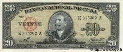 20 Pesos CUBA  1960 P.080c