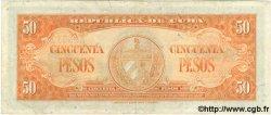 50 Pesos CUBA  1950 P.081a TTB