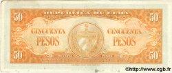 50 Pesos CUBA  1958 P.081b TTB